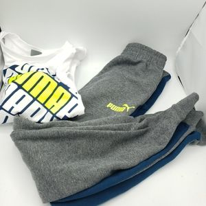 Puma Boys 3 piece set hoodie sweatpants tshirt